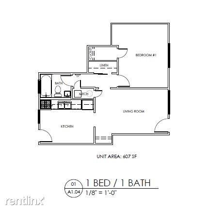 1 Bedroom 1 Bathroom Apartment for rent at Gardens At Washington Park 1 in Atlanta, GA