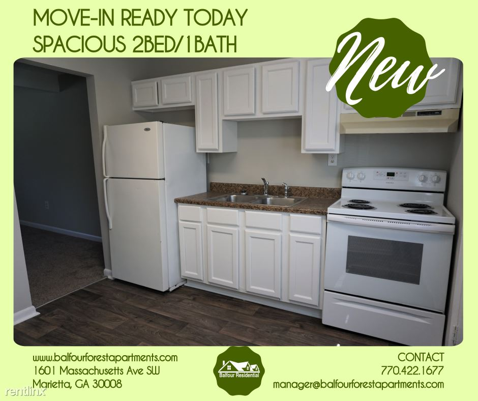 2 Bedrooms 1 Bathroom Apartment for rent at Balfour Forest Apartments in Marietta, GA