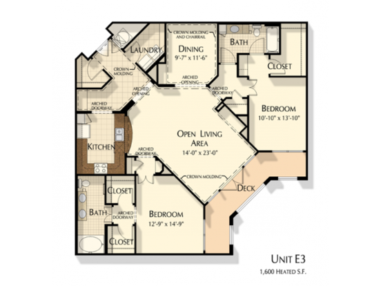 2 Bedrooms 2 Bathrooms Apartment for rent at Oberlin Court Apartments in Raleigh, NC