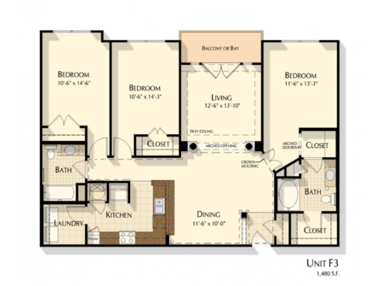 3 Bedrooms 2 Bathrooms Apartment for rent at Oberlin Court Apartments in Raleigh, NC
