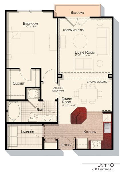 1 Bedroom 1 Bathroom Apartment for rent at Devon Seven12 in Raleigh, NC