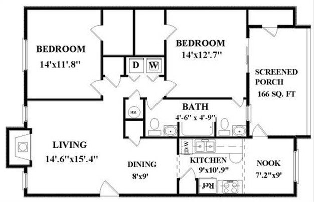2 Bedrooms 1 Bathroom Apartment for rent at Six Forks Station Apartments in Raleigh, NC