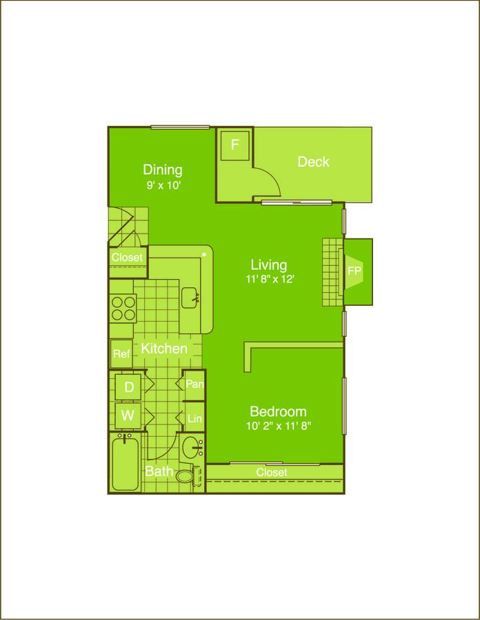 Studio 1 Bathroom Apartment for rent at Chestnut Ridge in Denver, CO