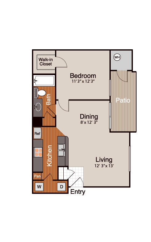 1 Bedroom 1 Bathroom Apartment for rent at Addison At Cherry Creek in Denver, CO