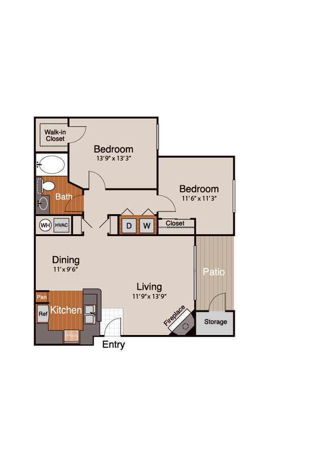 2 Bedrooms 1 Bathroom Apartment for rent at Addison At Cherry Creek in Denver, CO