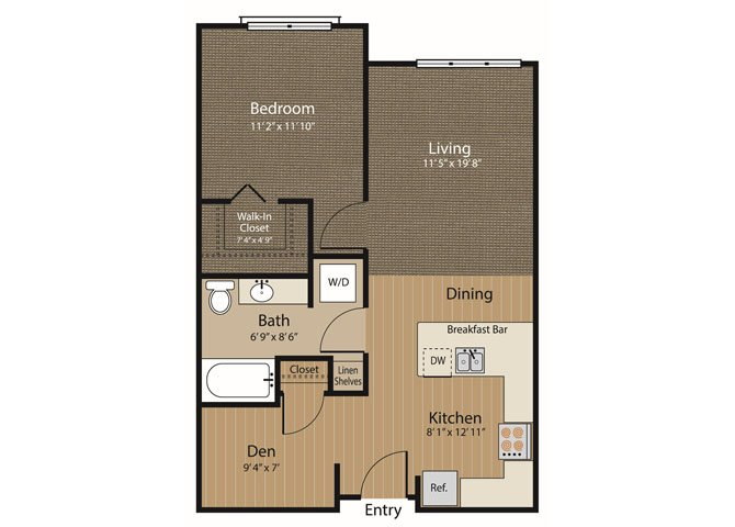 1 Bedroom 1 Bathroom Apartment for rent at Array Apartments in Seattle, WA