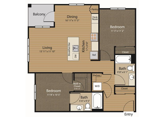 2 Bedrooms 2 Bathrooms Apartment for rent at Array Apartments in Seattle, WA