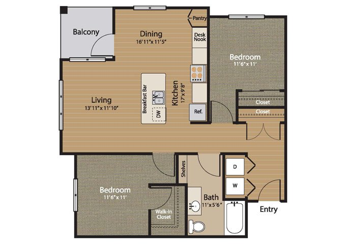 2 Bedrooms 1 Bathroom Apartment for rent at Array Apartments in Seattle, WA