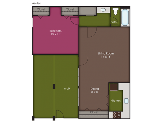 1 Bedroom 1 Bathroom Apartment for rent at Glenmeade Village in Wilmington, NC