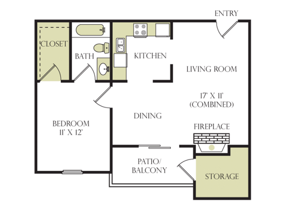 1 Bedroom 1 Bathroom Apartment for rent at Beacon Hill in Charlotte, NC