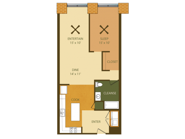 1 Bedroom 1 Bathroom Apartment for rent at Loray Mill Lofts in Gastonia, NC