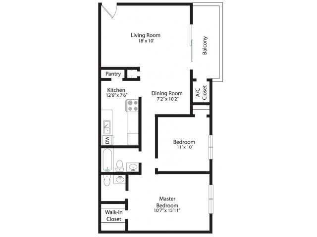 2 Bedrooms 2 Bathrooms Apartment for rent at Plaza Apartments in Garner, NC