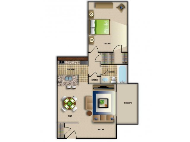 1 Bedroom 1 Bathroom Apartment for rent at Brentwood West Apartments in Raleigh, NC