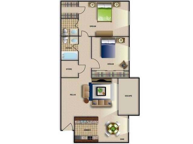 2 Bedrooms 2 Bathrooms Apartment for rent at Brentwood West Apartments in Raleigh, NC