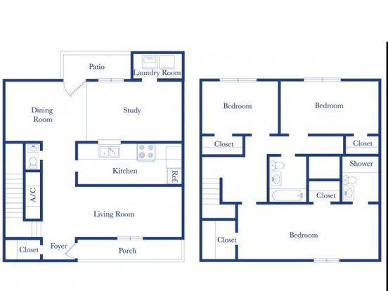 3 Bedrooms 2 Bathrooms Apartment for rent at Colony Townhomes in Raleigh, NC