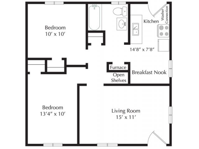 2 Bedrooms 1 Bathroom Apartment for rent at Oakwood Apartments in Raleigh, NC