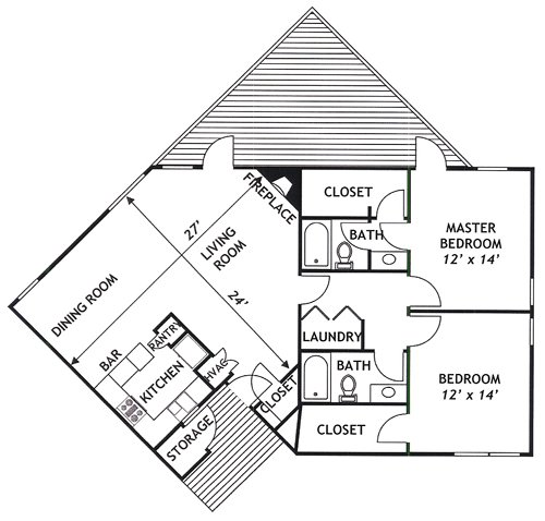 2 Bedrooms 2 Bathrooms Apartment for rent at Pinnacle Apartments in Raleigh, NC