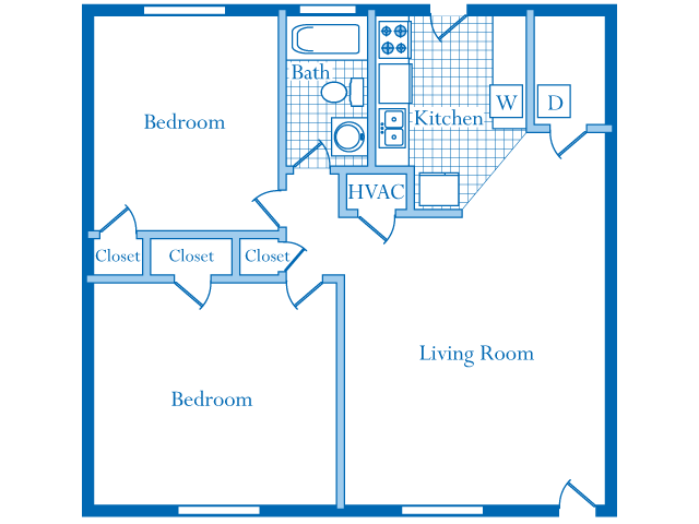 2 Bedrooms 1 Bathroom Apartment for rent at South Ridge Apartment Homes in Raleigh, NC