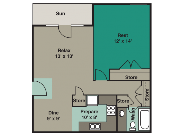 1 Bedroom 1 Bathroom Apartment for rent at Angel Court in Raleigh, NC