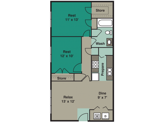 2 Bedrooms 1 Bathroom Apartment for rent at Angel Court in Raleigh, NC
