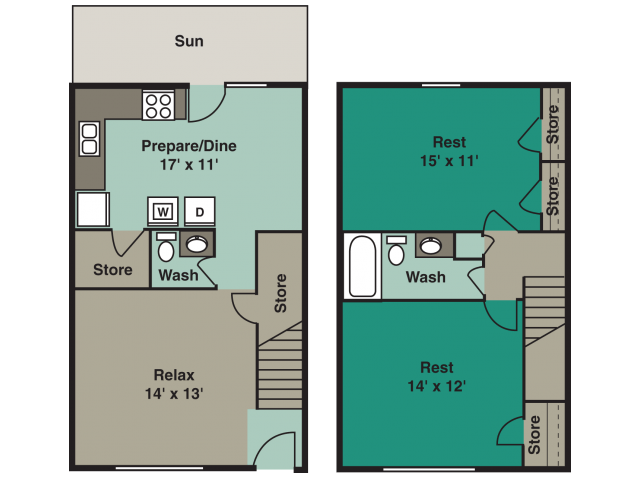 2 Bedrooms 2 Bathrooms Apartment for rent at Angel Court in Raleigh, NC