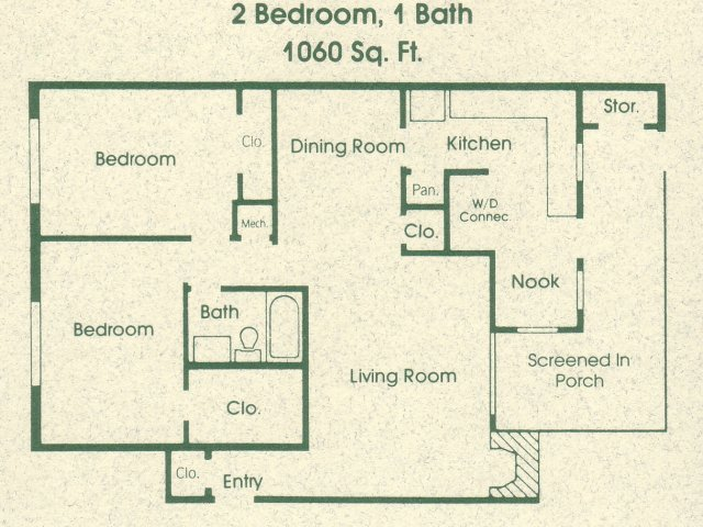 2 Bedrooms 1 Bathroom Apartment for rent at The Groves in Raleigh, NC