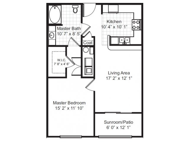 1 Bedroom 1 Bathroom Apartment for rent at Independence Park in Durham, NC