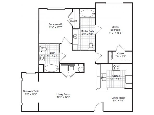 2 Bedrooms 2 Bathrooms Apartment for rent at Independence Park in Durham, NC