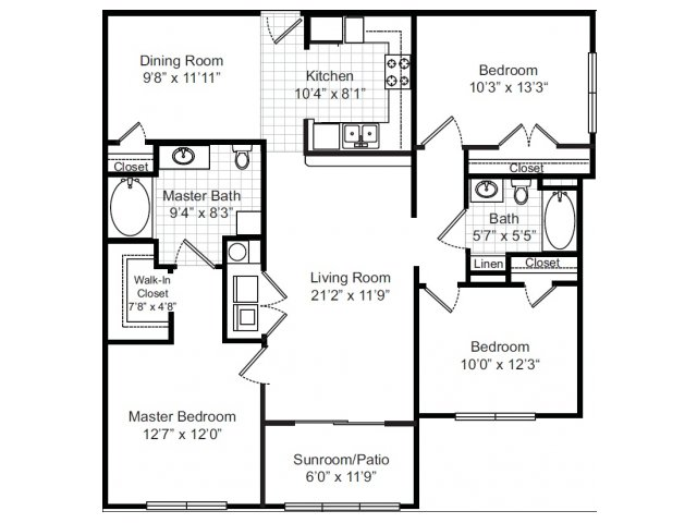 3 Bedrooms 2 Bathrooms Apartment for rent at Independence Park in Durham, NC