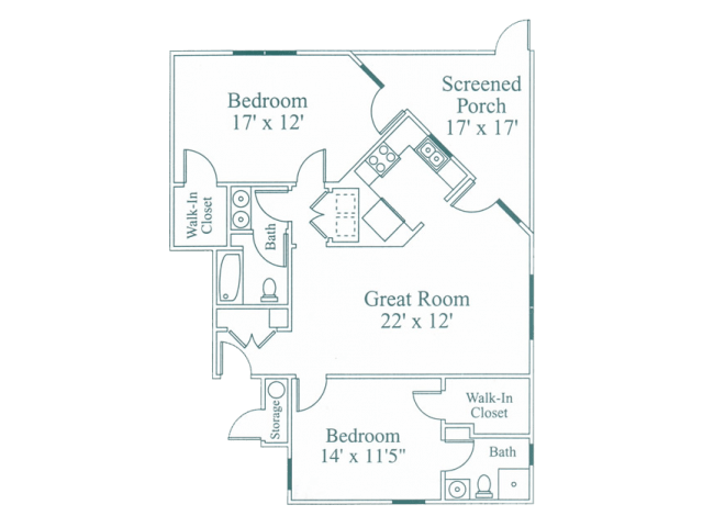 2 Bedrooms 2 Bathrooms Apartment for rent at Crosstimbers Apartments in Morrisville, NC