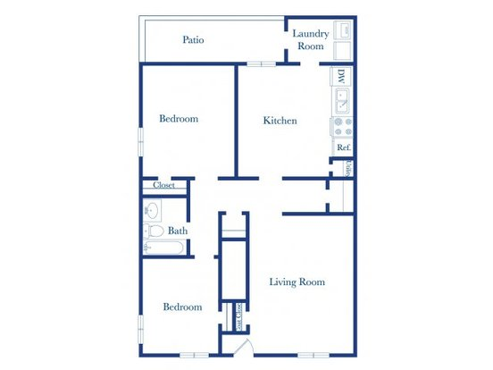 2 Bedrooms 1 Bathroom Apartment for rent at Colony Townhomes in Raleigh, NC