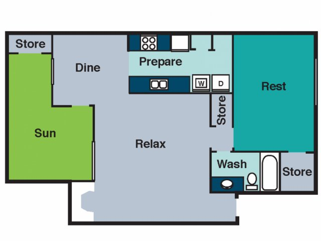 1 Bedroom 1 Bathroom Apartment for rent at The Groves in Raleigh, NC