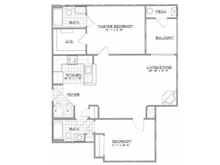 2 Bedrooms 2 Bathrooms Apartment for rent at Cedar Court Apartments in Gaithersburg, MD