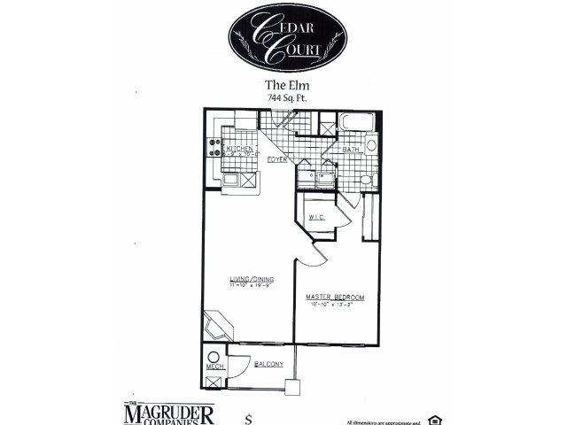1 Bedroom 1 Bathroom Apartment for rent at Cedar Court Apartments in Gaithersburg, MD