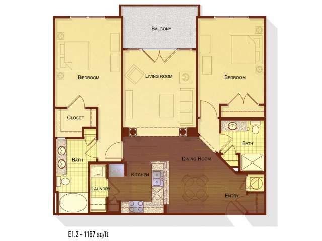 2 Bedrooms 2 Bathrooms Apartment for rent at Apartments at the Arboretum in Cary, NC