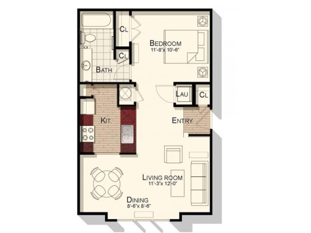 Studio 1 Bathroom Apartment for rent at Southpoint Village in Durham, NC