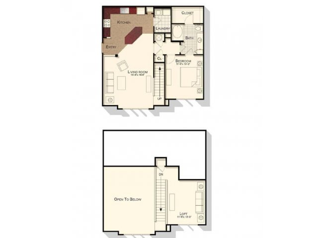 1 Bedroom 1 Bathroom Apartment for rent at Southpoint Village in Durham, NC
