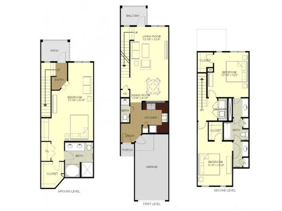 3 Bedrooms 2 Bathrooms Apartment for rent at Southpoint Village in Durham, NC