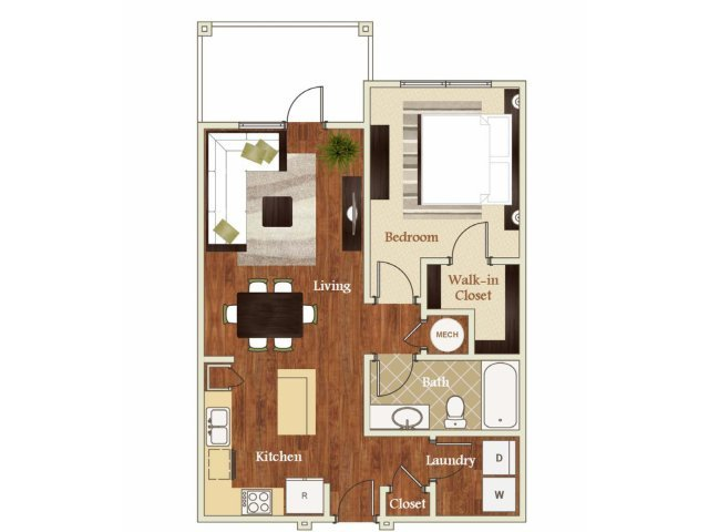 1 Bedroom 1 Bathroom Apartment for rent at Lofts at Weston Lakeside in Cary, NC