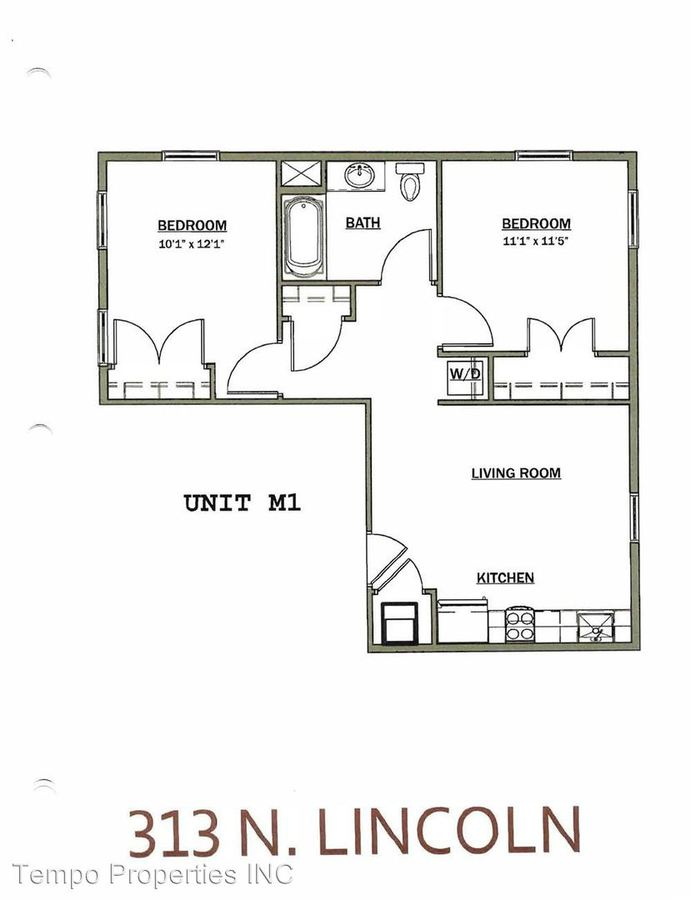2 Bedrooms 1 Bathroom Apartment for rent at 313 N Lincoln in Bloomington, IN
