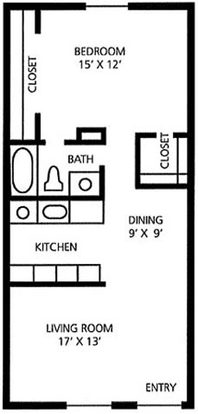 1 Bedroom 1 Bathroom Apartment for rent at Juniper Springs A Concierge Community in Austin, TX