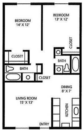2 Bedrooms 2 Bathrooms Apartment for rent at Juniper Springs A Concierge Community in Austin, TX
