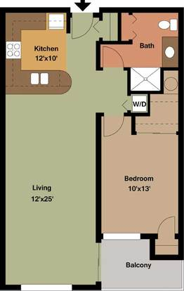 1 Bedroom 1 Bathroom Apartment for rent at Edge On North in Milwaukee, WI