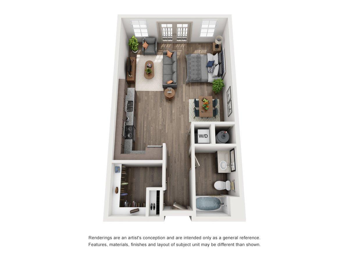 Studio 1 Bathroom Apartment for rent at Green Park Apartments in Tucker, GA