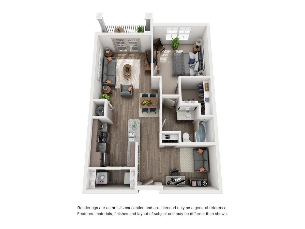 1 Bedroom 1 Bathroom Apartment for rent at Green Park Apartments in Tucker, GA