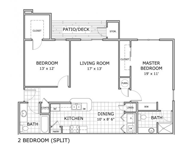 2 Bedrooms 2 Bathrooms Apartment for rent at Hawthorn Suites Apartments in Springfield, MO