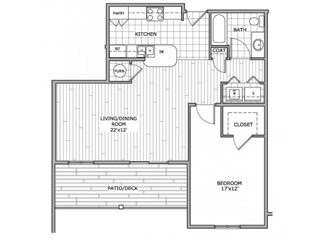 1 Bedroom 1 Bathroom Apartment for rent at Coryell Courts Apartments in Springfield, MO
