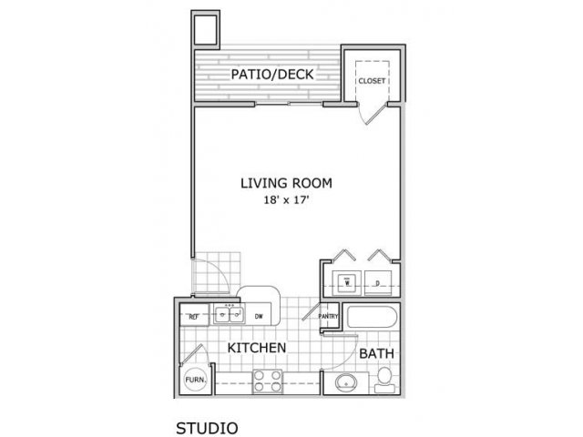 Studio 1 Bathroom Apartment for rent at Hawthorn Suites Apartments in Springfield, MO