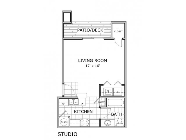 Studio 1 Bathroom Apartment for rent at Orchard Park Apartments in Springfield, MO