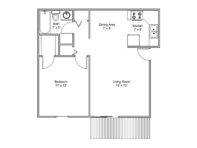 1 Bedroom 1 Bathroom Apartment for rent at Essex Place Apartments in Springfield, MO